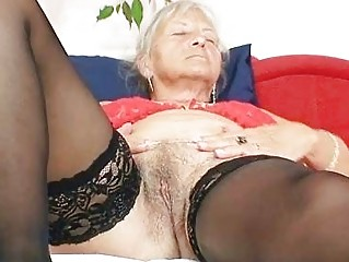 unsightly grandma cecilie toys her hairy bawdy