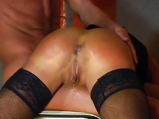 german non-professional milf spanked and fisted