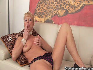 golden-haired granny shows her horny side