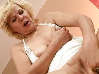 horny granny enjoys hard sex