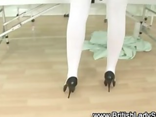 british stylish older nurse gets obscene