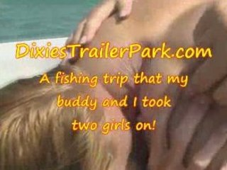a swinger teen, a milf and a fishing voyage