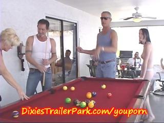 trailer trash pool shooting with d like to fuck