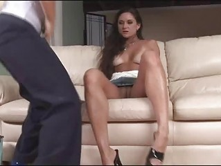busty lesbo milfs go wild for thong on sex toy
