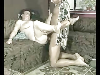 wench granny hard fucked by younger man.