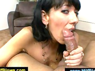 hot mommy caressing a rod with her pantoons
