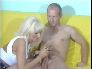sandra gives mature chap awesome cfnm tugjob with