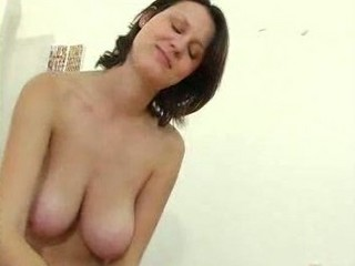aged girl with large tits gives a tugjob
