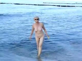 granma at the beach