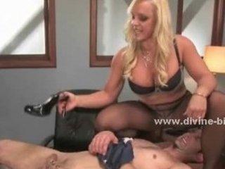 golden-haired milf dominatrix-bitch using her