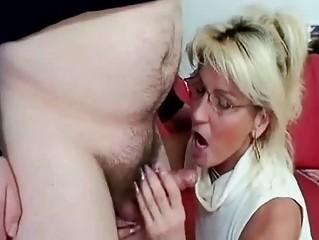breasty aged engulfing old penis like a pro wench