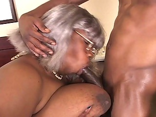 bbw darksome grandma acquires a piece of hunk rod