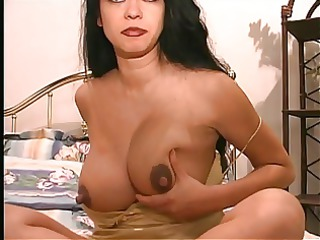 a thick and breasty latin chick slut receives her