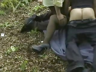 wife receives team-fucked outdoors