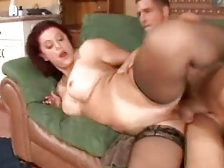 mature redhead gets filled
