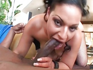 concupiscent dark brown milf roughly drilled by