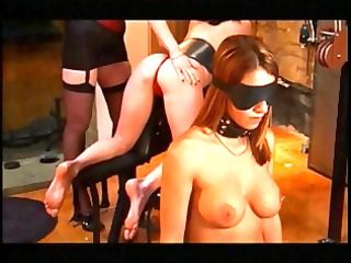 two women tied and booties whipped