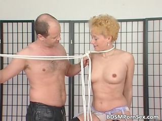 d like to fuck blonde receives tits tied in this
