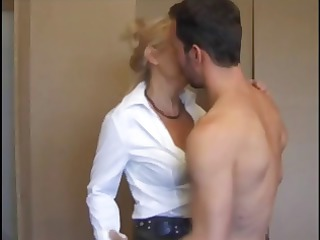 lustful blond french mature eats dong and then