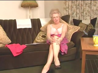 charming curly old granny fingering intro