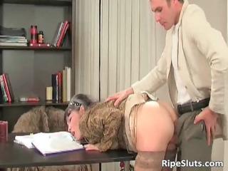 lascivious aged slut gets wet pussy
