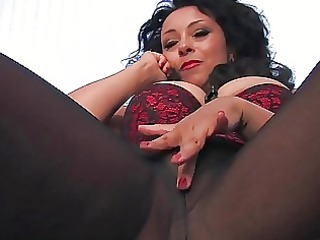 wicked darksome haired mother i in black