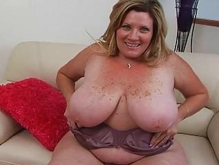 obese pale golden-haired momma sticks huge sex