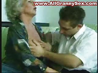 45 years old granny drilled