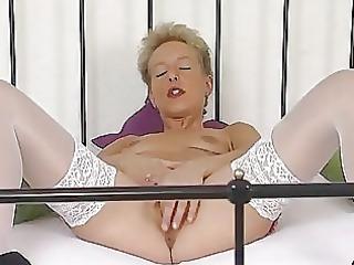 mature german golden-haired masturbating