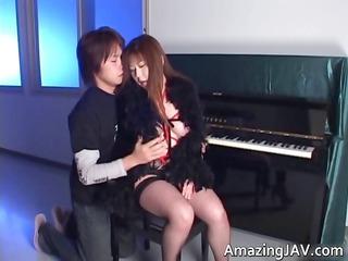 japanese momoko looking hot in stockings part0