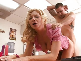 large titted mother i doxy slurps on raging