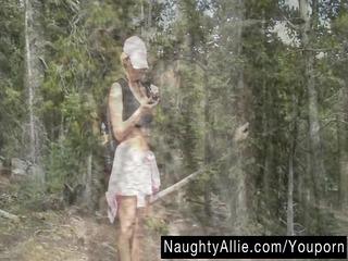mountain trail masturbation – exhibitionist wife