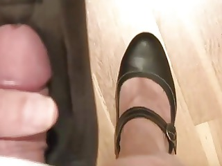 masturbation with shoes my wife, mary janes