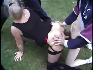 french mature danielle - open air fuck