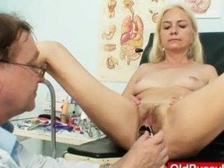 slim hirsute granny woman doctor treatment