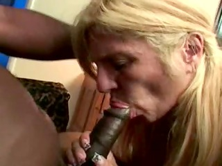 blond aged with large gazoo loves bbc
