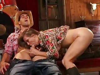 enormous chested brunette milf gives oral