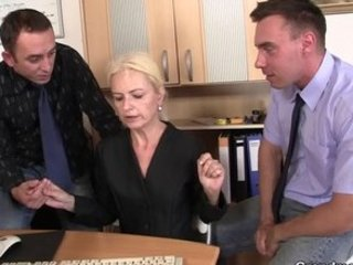 co-owners group sex hot older lady
