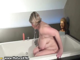 old experienced mom is taking part11