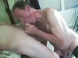 sissy husband sucks pecker and receives screwed