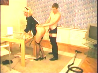 russian aged in dark stockings and heels