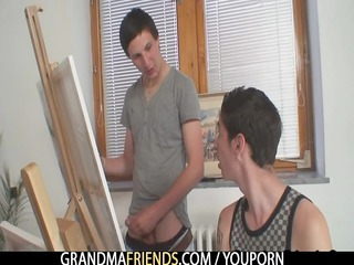 lustful buddies fuck granny
