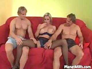 milf blond hooker copulates large cock