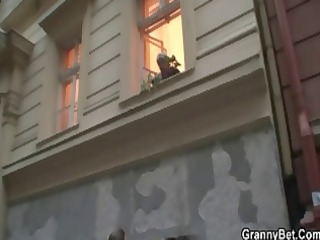 fat blonde granny seduces the neighbour boy