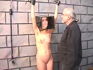 cute black haired hotty gets restrained and