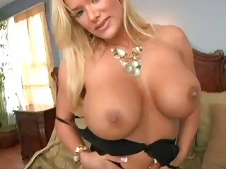 enormous chested blond momma in dark underware