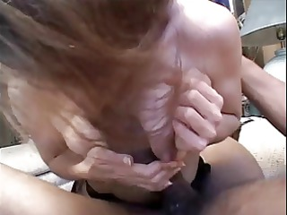 sexy white dark brown mommy gags and drools on