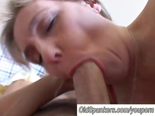 breasty older non-professional gives a great