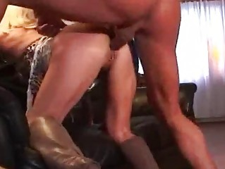 mother i pierced golden-haired in boots getting