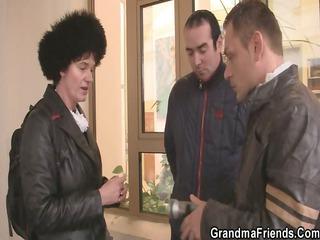 nasty granny acquires lured into threesome